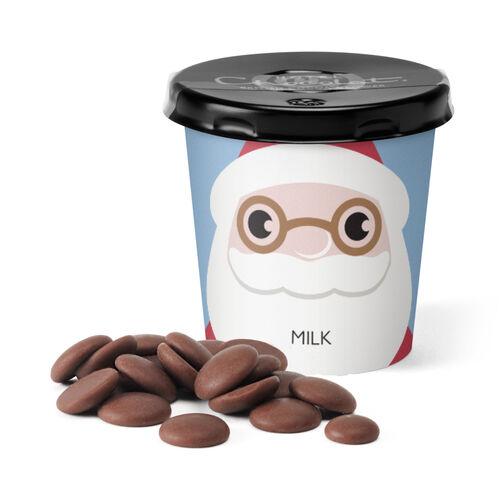 Santa Tiddly Pot - Milk Chocolate, , hi-res