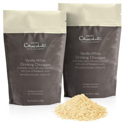 Vanilla White Hot Chocolate Pouches, , hi-res