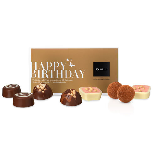 Happy Birthday Chocolates Message Box, , hi-res