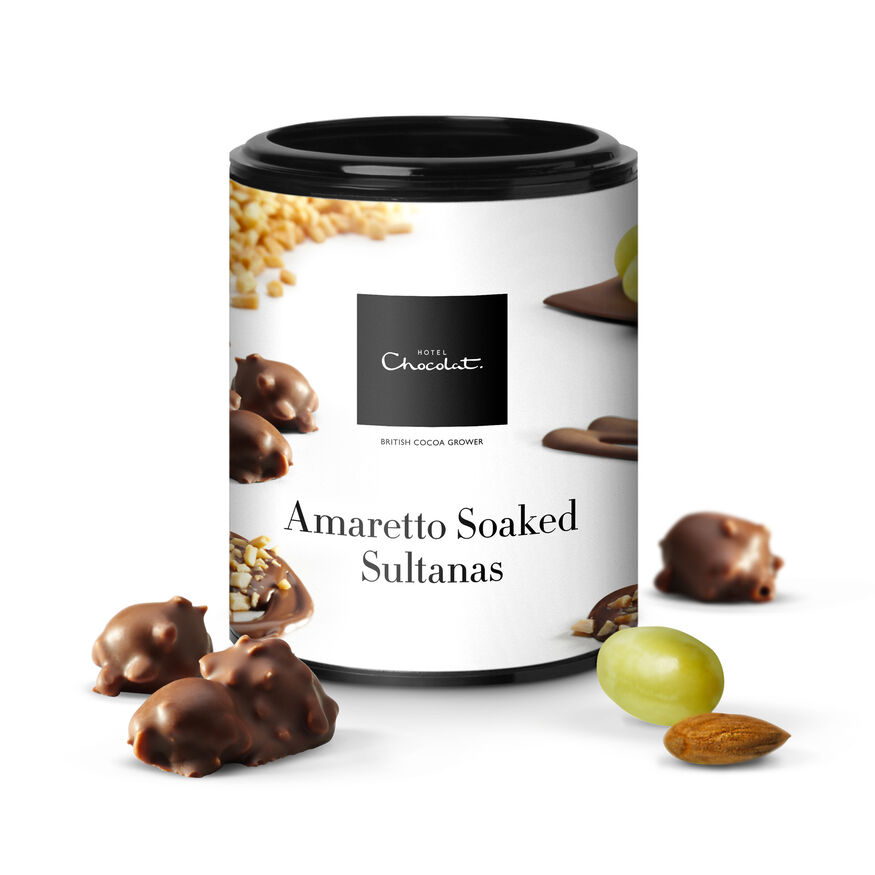 Amaretto Chocolate Almond Sultanas, , hi-res
