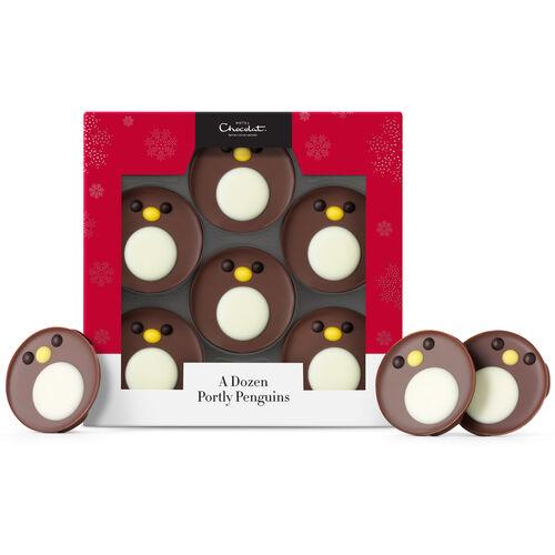 A Dozen Portly Chocolate Penguins , , hi-res