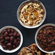Hummus with Chilli Cacao-Spiced Walnuts Recipe, , hi-res