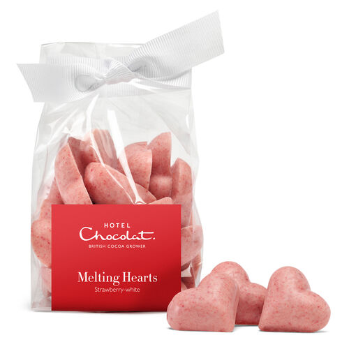 Melting Valentine Hearts – Strawberry and White Chocolate, , hi-res