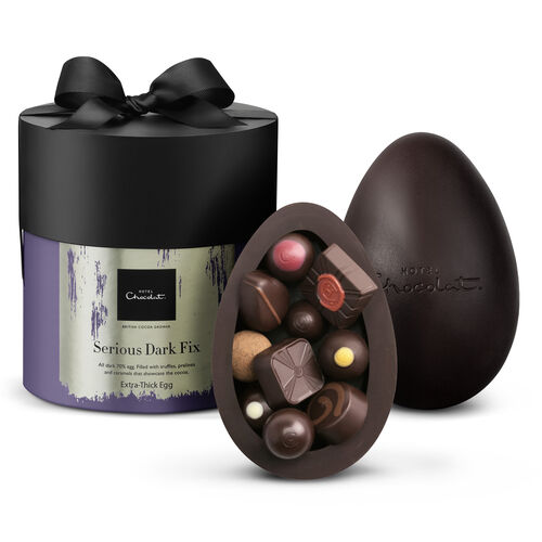 High Cocoa Extra-Thick Dark Easter Egg, , hi-res