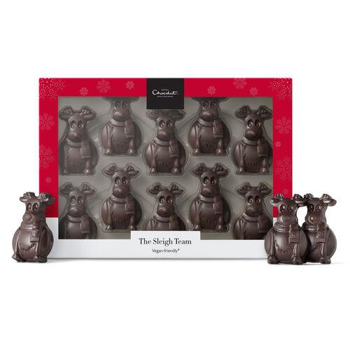 The Sleigh Team – Dark Chocolate Reindeers, , hi-res