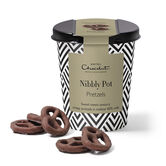 Chocolate Pretzels Nibbly Pot, , hi-res