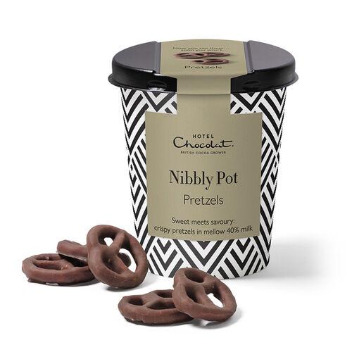 Chocolate Pretzels Nibbly Pot, , hi-res