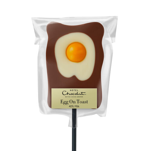 Egg On Toast Lick – Chocolate Easter Lolly, , hi-res