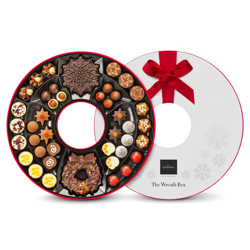 Chocolate Christmas Wreath Box