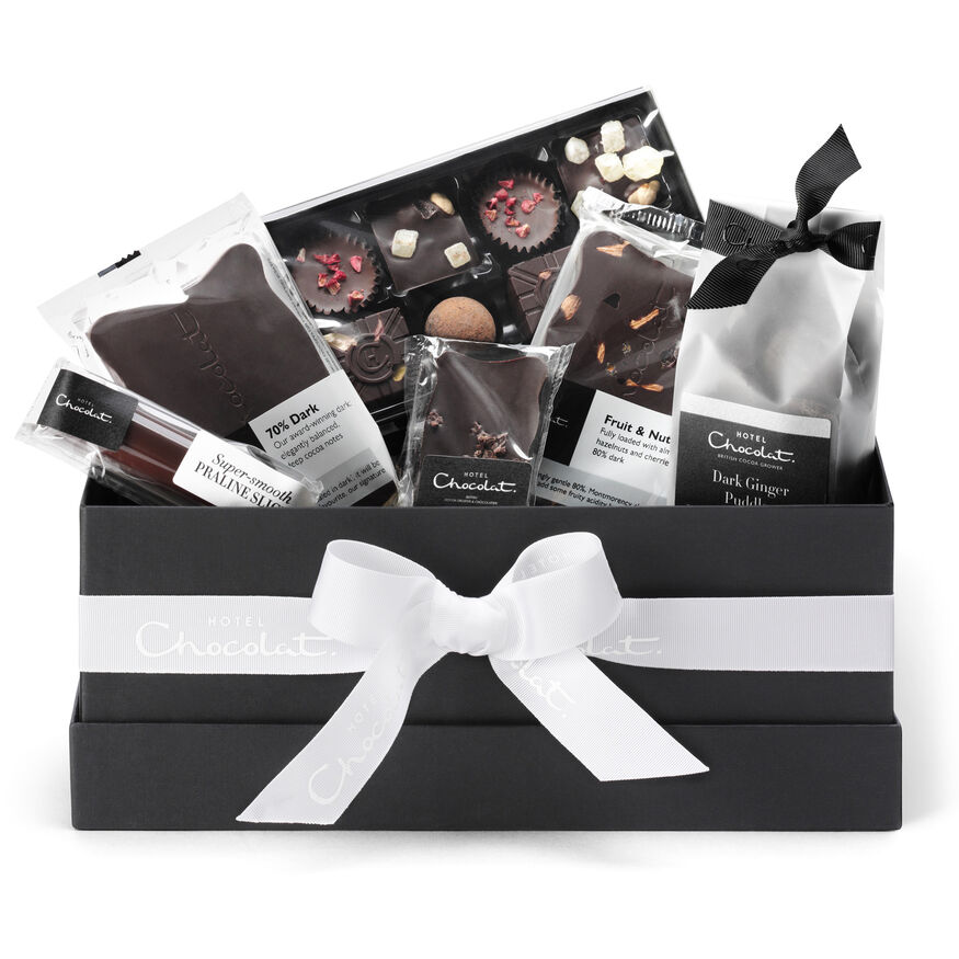 The All Dark Vegan Chocolate Hamper Collection, , hi-res