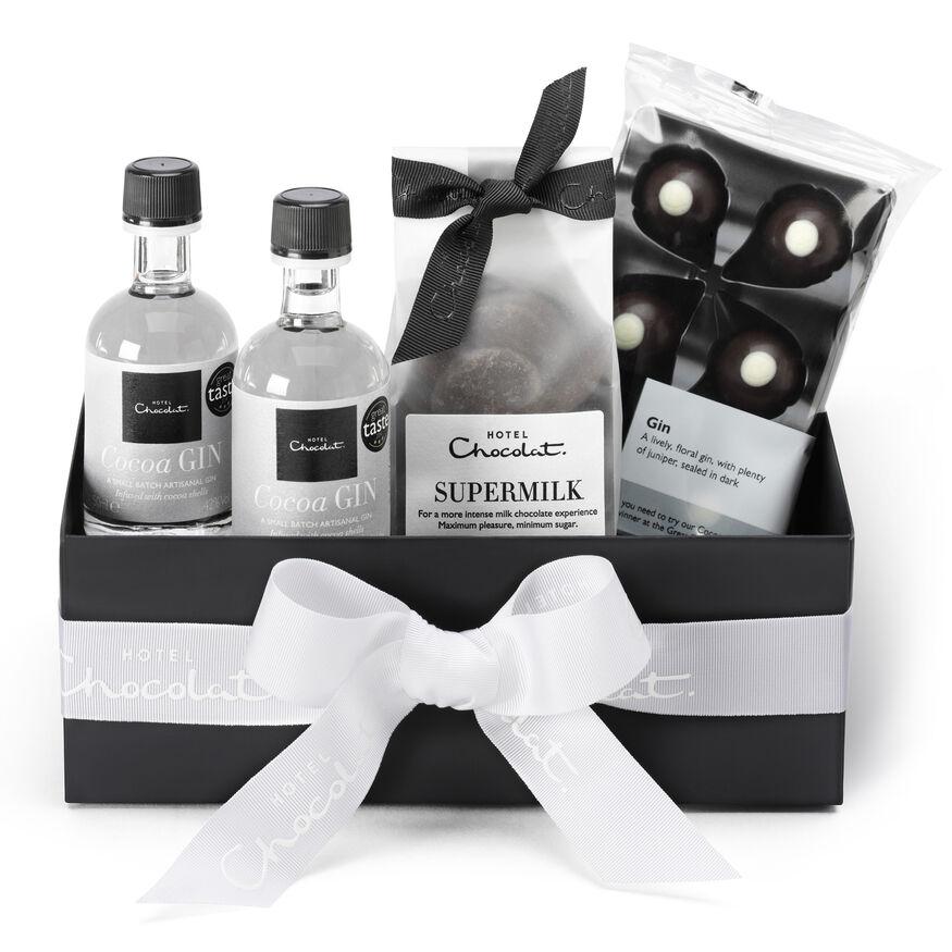 Chocolate & Gin Gift Box by Hotel Chocolat