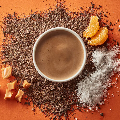 Salted Caramel & Clementine Hot Chocolate - Single Serves, , hi-res