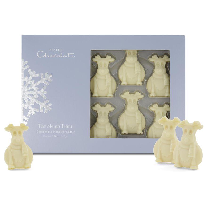 Sleigh Team - White Chocolate Reindeer, , hi-res