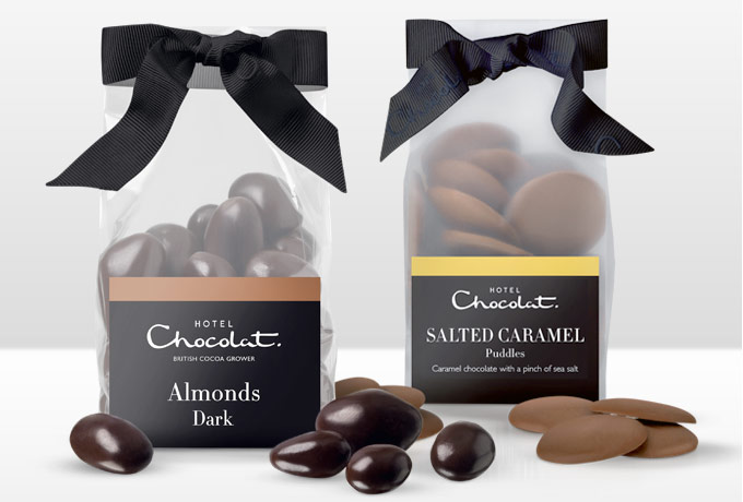 Ribbon Chocolate Bags