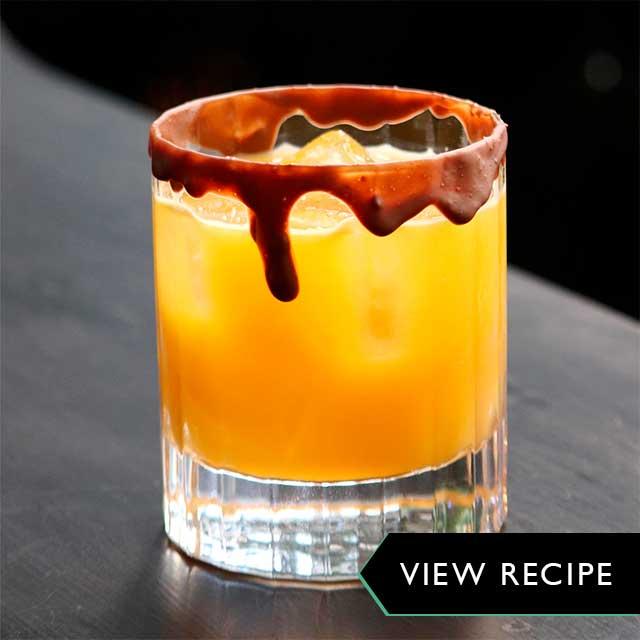 Spooky Salted Caramel Vodka Cocktail